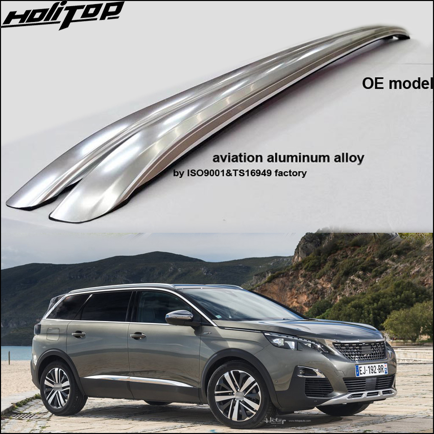 New arrival roof rail luggage bar roof carrier beam for Peugeot 5008 best aluminum alloy,excellent factory.free shipping to Asia