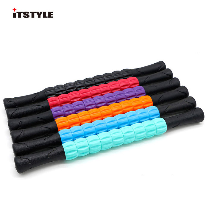 9 Spiky Yoga Massage Stick Point Stick Pilates Muscle Physical Therapy Relieve Massage Tool Fitness Equipment Yoga Roller