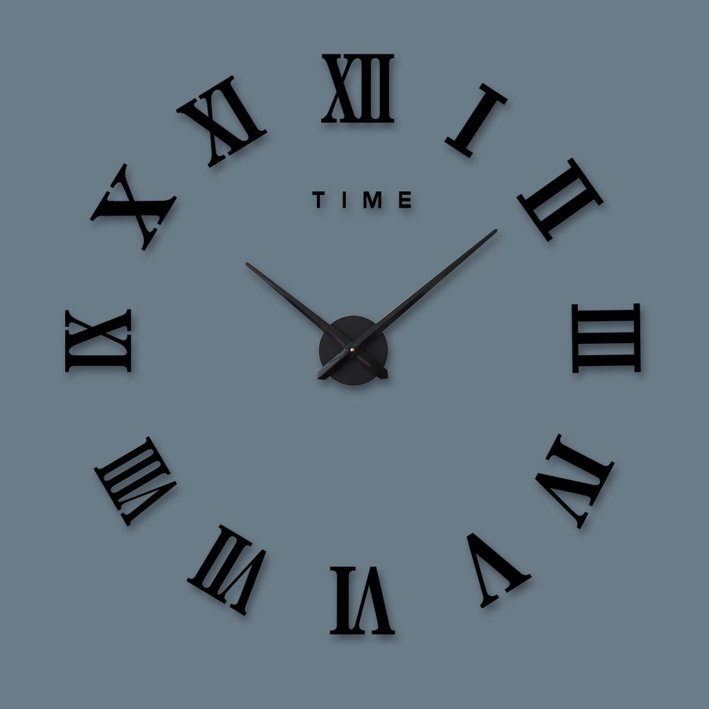 US $18 08 25% OFF M Sparkling Wall Clocks large decorative for living room  Product oversized acrylic clock Classic Roman numeral diy AUG28-in Wall
