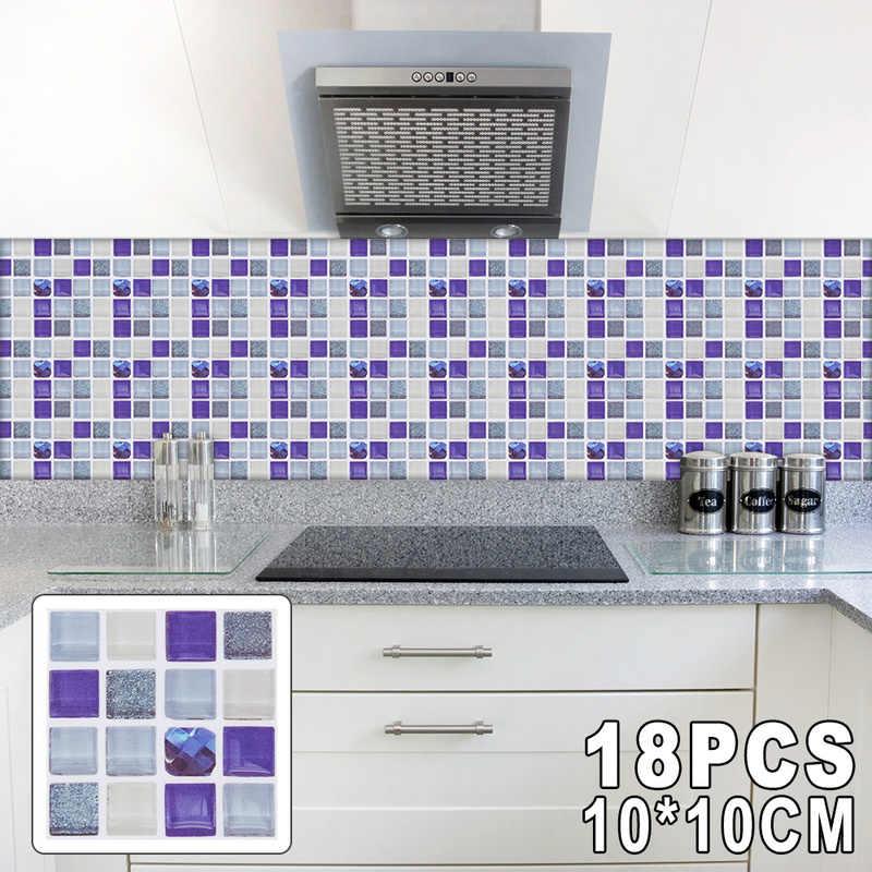 18 шт. современные настенные наклейки 10x10 см мраморная плитка водостойкая наклейка самоклеющаяся для ванной кухни украшения дома