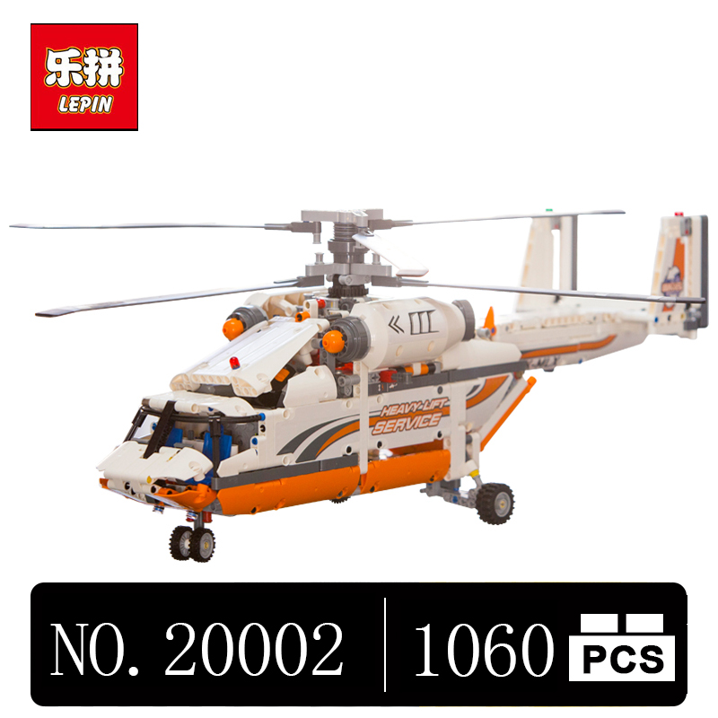 DHL LEPIN 20002 Heavy Lift Helicopter Technic Plane Building Bricks Blocks Set New Year Gift Toys for Children Boy 42052 education building blocks bricks toy gun boy toys for children model new year christmas gift free shipping compatible lepin