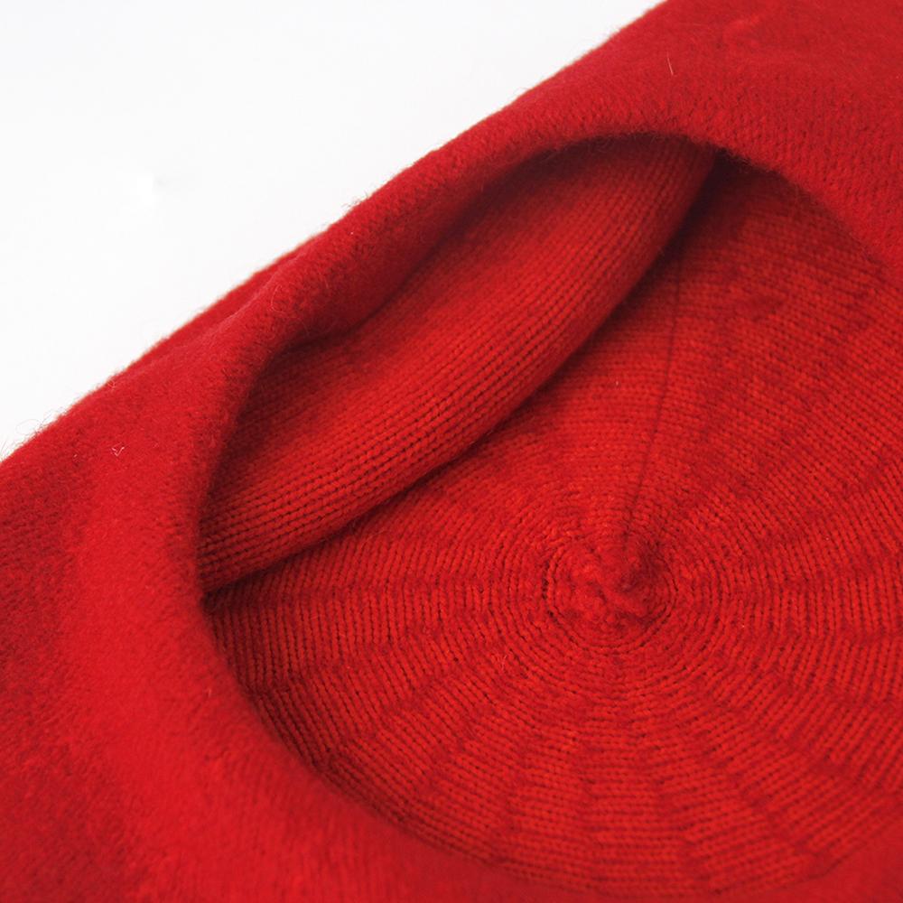 18542763a24 Womens Winter Hat Beret Female Wool Cotton Blend Cap Autumn Brand ...