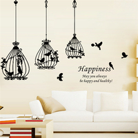 Happiness May You Always Be Happy And Health Quote Birds Wall Stickers For Living Room Home