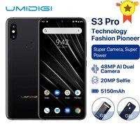 UMIDIGI S3 PRO Android 9,0 48MP + 12MP + 20MP AI Камера 5150 mAh 128 GB 6 GB 6,3