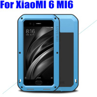 For XiaoMI 6 MI6 Original Lovemei Heavy Duty Aluminum Metal Gorilla Glass Shock Drop Waterproof Case