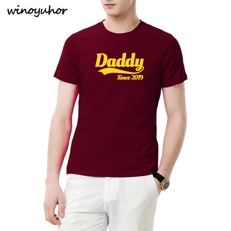f59ef9f5 New Summer Style Daddy Since 2019 Funny T Shirt Men Casual Short Sleeve  Father's Day Dad