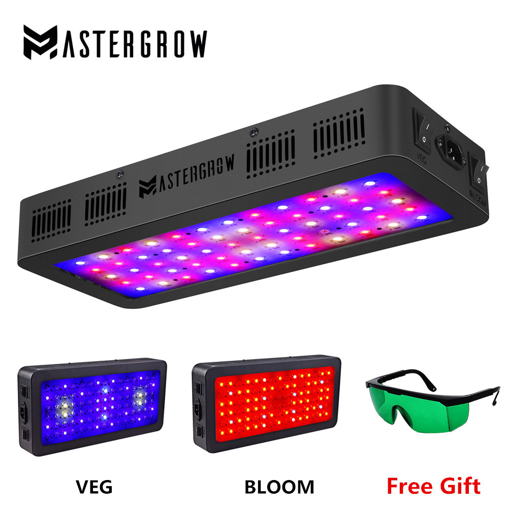 MasterGrow Double Switch LED grow light 600W 900W 1200W Full Spectrum with Veg and Bloom model for Indoor Greenhouse grow tent-in Growing Lamps from Lights & Lighting
