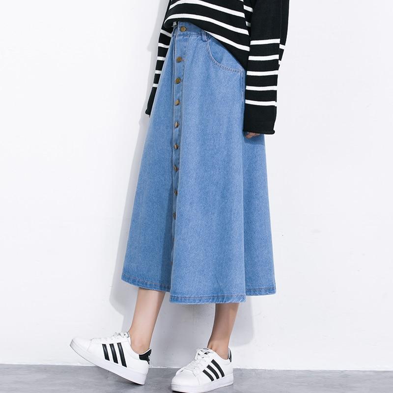 Юбки для девушек синие длинная