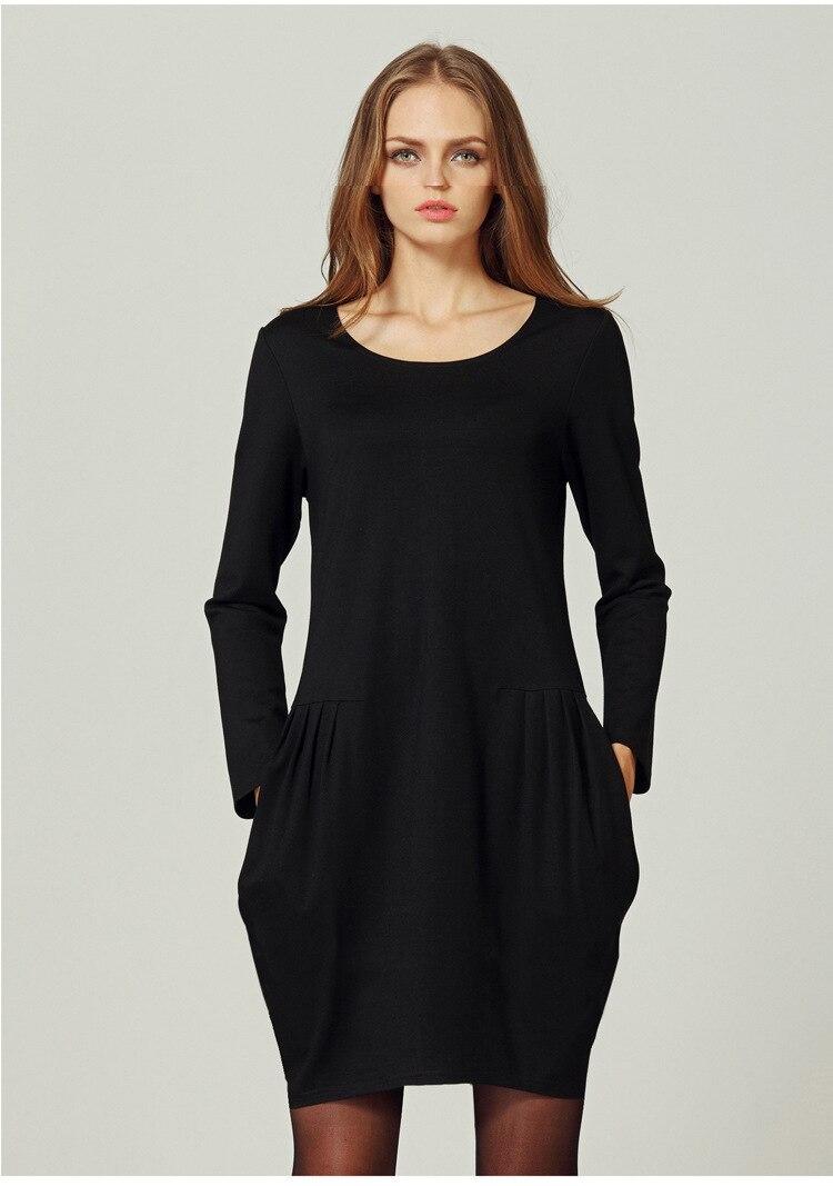 New spring black dress Slim was thin female fat mm large ...