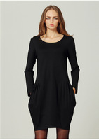 New Spring Black Dress Slim Was Thin Female Fat Mm Large Size Women S Fashion Clothing