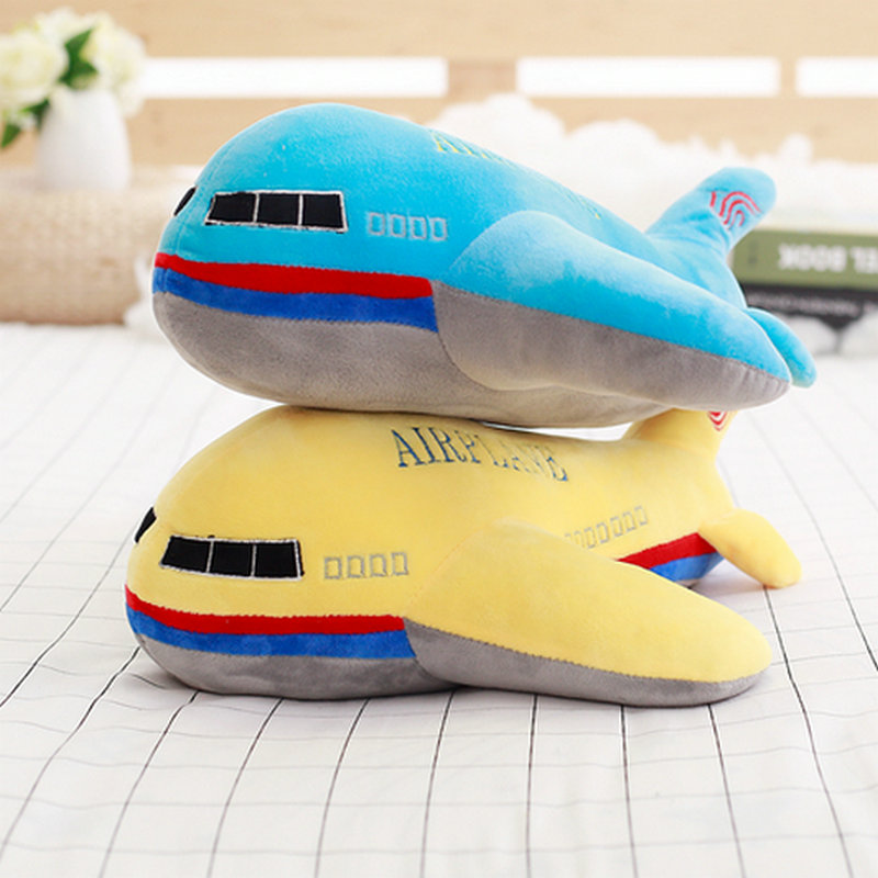 Cartoon airplane pillow stuffed plush soft cushion kids toy baby gift length size 40-60cm 2018 New Style aircraft plush toys
