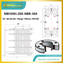 225KW water to water Gasketed plate-and-frame heat exchangers for for heating, cooling, heat recovery, evaporation