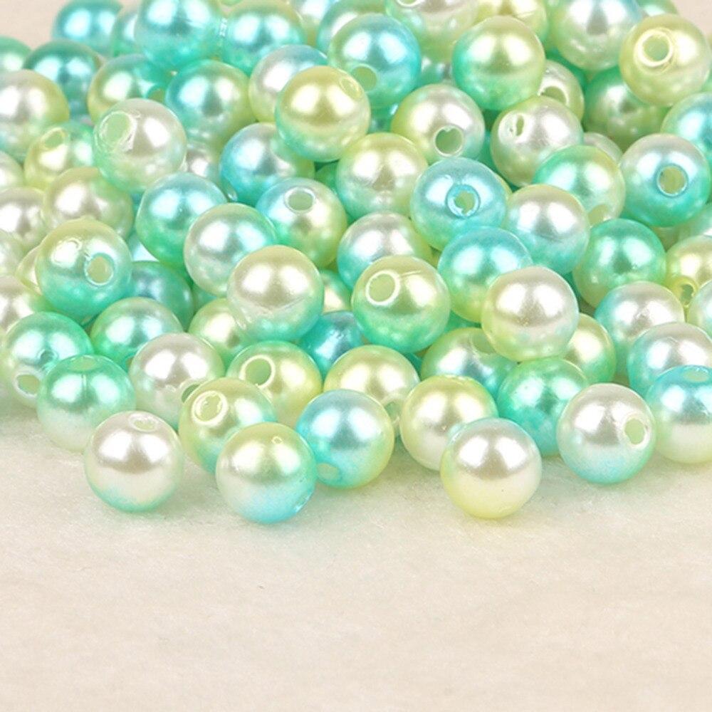 Выбор размеров диаметр 4 6 8 10 мм АБС имитация жемчуга бусины Круглые пластиковые абс свободные жемчужные бусины для ожерелья Браслет DIY Изготовление ювелирных изделий