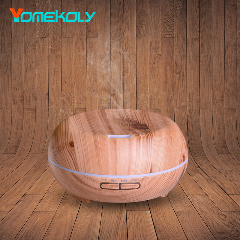 Air Humidifier Ultrasonic Aroma Essential Oil Diffuser LED Aroma Diffuser Lamp Aromatherapy Wood Grain Mist Maker for Home-Wood bm 03k 100 240v home ultrasonic essential oil aroma wood diffuser aromatherapy water humidifier mist maker 20 30ml h