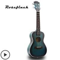 Mini Aquamarine Color Concert Ukulele Strings Hawaiian Guitar Acoustic Guitar 23 inch Ukelele Mahogany Gift Kid Beginner UK2329