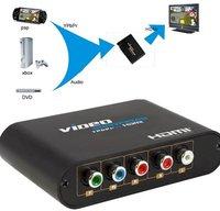 354 Component Video (YPbPr) to HDMI converter,YPbPr to HDMI video converter,1080P video YPbPr& Audio R/L to HDMI adapter