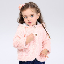 2016 осень и зима Европа и соединенные Штаты детская одежда с капюшоном пальто 1-6 лет волосы девушки толстый слой