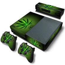 Weed skin sticker For Microsoft Xbox One vinyl protective cover sticker for xbox one console controle skin for xbox one