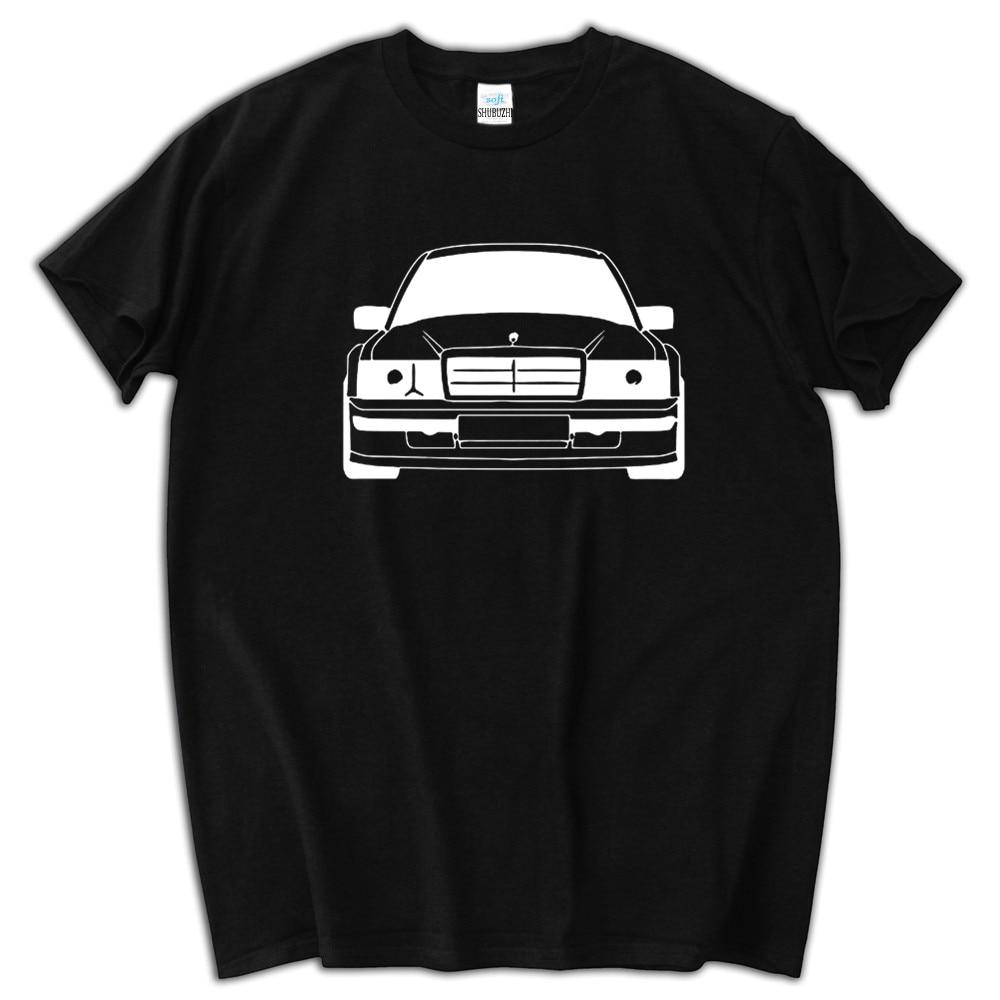 Mens T Shirt Graphic Letter Men's T-Shirt Mercedes 190E Evolution II Black Car Tops Teenage 100% Cotton Top Tees Sbz5114
