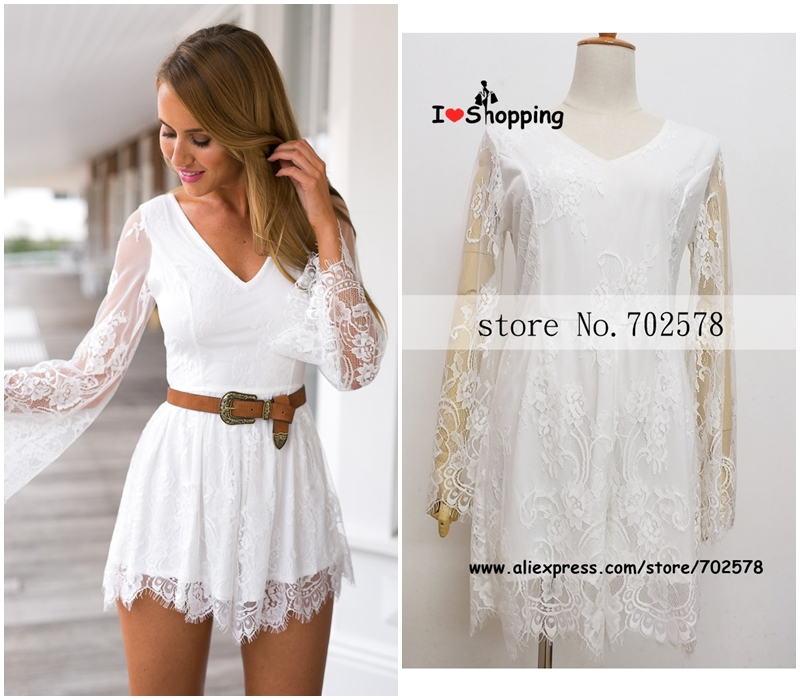2bb3108df92d Summer Style White Lace Jumpsuit Women Ruffles Skirt Shorts Casual Sexy  Resort Wear monos mujer macacao feminino Playsuit New on Aliexpress.com