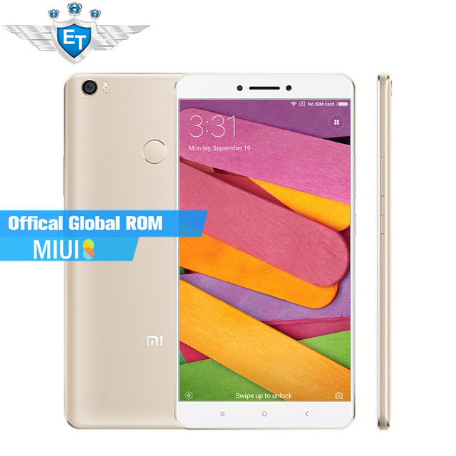 """Оригинал Xiaomi Mi Макс 6.44 """"1080 P Смартфон с Большим Экраном 4 Г LTE Snapdragon 650 Гекса Основные 3 ГБ 32 ГБ 4850 мАч 16.0MP Отпечатков Пальцев"""