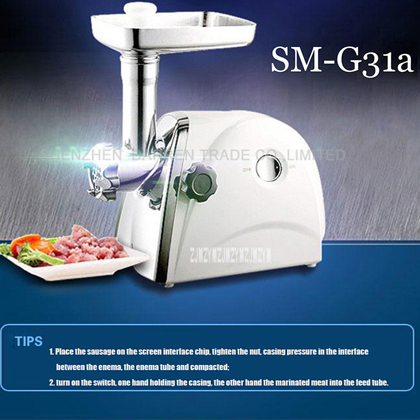 цена на 1PC SM-G31a Electric Automatic Meat Grinder sausage pasta cooking machine Household ABS Shell Stainless Meat Mincer