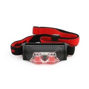 Image 2 - Mini Head Lamp 4 Modes Waterproof 1*XPE White+2*LED Red Flashlight Headlight Headlamp Torch Lanterna with Headband Use AA