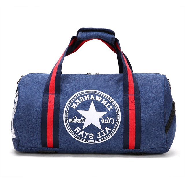 810d11eb07 Durable Outdoor Sports Canvas Gym Bag Multifunction Training Fitness  Shoulder Bag With Shoes Pocket Travel Yoga