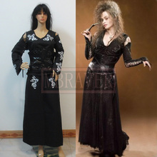 Halloween cosplay costumes for adult women The Goblet of Fire Bellatrix Lestrange bella cosplay costume