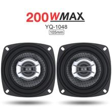 2pcs 4 Inch 2 Way 200W Car Speaker Automobile Car HiFi Audio Full Range Frequency Coaxial Speaker Loudspeaker for Cars Vehicle цена в Москве и Питере