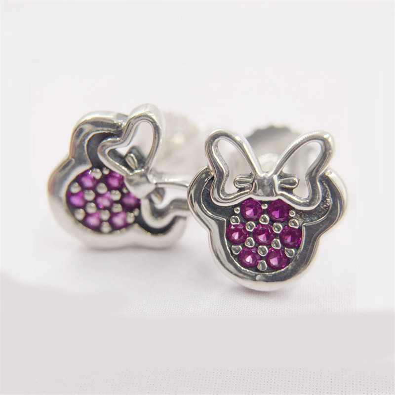sparkling minnie mouse stud earrings compatible with