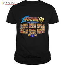 цены Funny Men T Shirt Women Novelty Tshirt The King Of Fighters 98 (Neo Geo Character Select) Shirt(1) Cool T Shirt