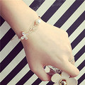 simple simulated pearl zircon butterfly charm bracelet women fashion bijoux gold plated chain trendy jewelry cute gift