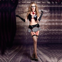 Sexy Teacher Role Play Dress Erotic Halloween Costumes Women Lingerie Seductive School Cosplay