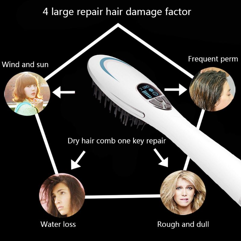 Straightening Brush Hair Straightener Dryer Anti Static Auto-off Heating Beauty Salon Styling Tools  Straightening Brush Hair Straightener Dryer Anti Static Auto-off Heating Beauty Salon Styling Tools