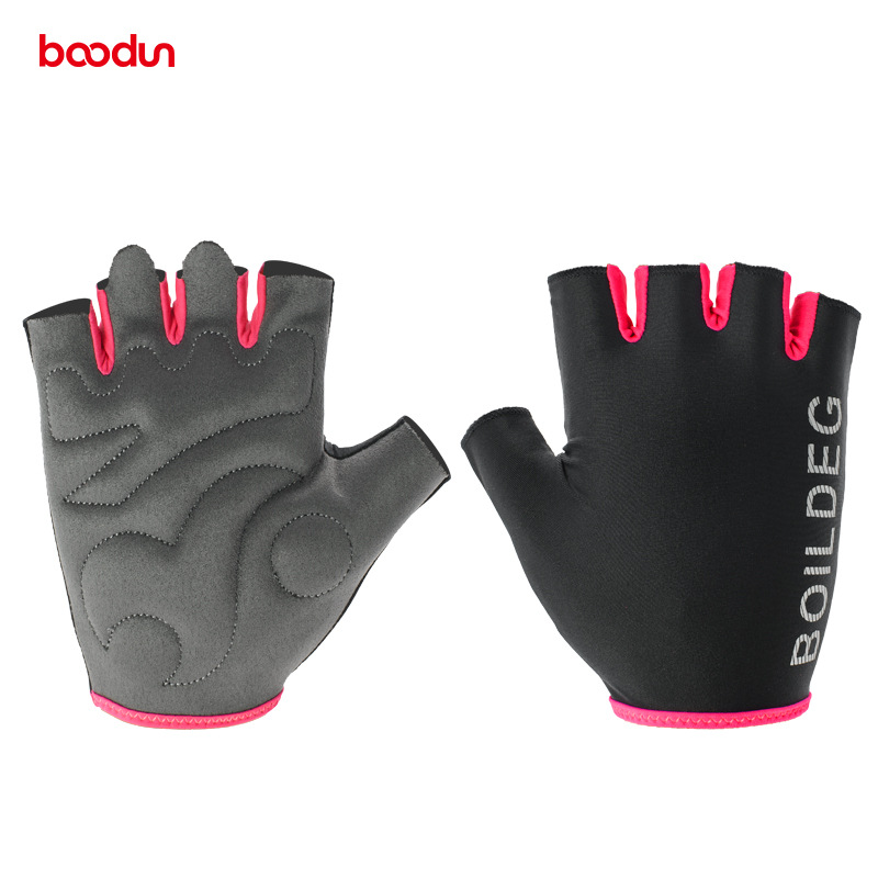 Boodun Cycling Gloves Half Finger Bike Fitness Weight Lifting Gloves Muscle Training Sport Workout Crossfit Gloves for Men Women