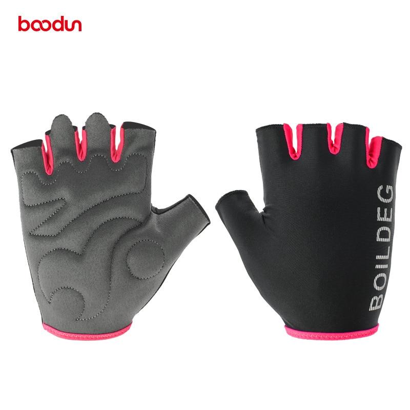 Boodun Fahrradhandschuhe Half Finger Bike Fitness Gewichtheben Handschuhe Muskeltraining Sport Training Crossfit Handschuhe für Männer Frauen