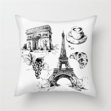 Fuwatacchi American France England Flags Throw Pillow National Flag Cushion Cover Case For Home Sofa Decor Pillowcases 2019