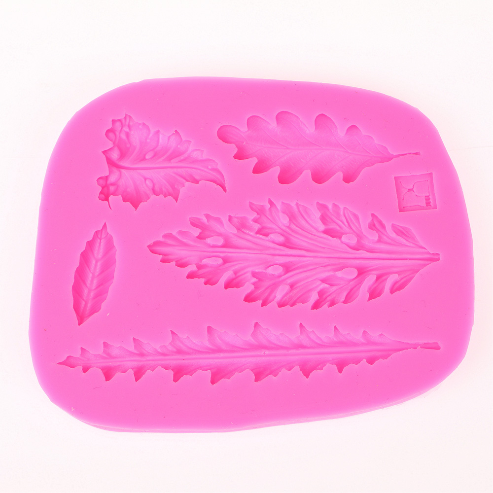 3D Different shapes of leaves chocolate Party cake decorating tools DIY baking fondant silicone mold F0425