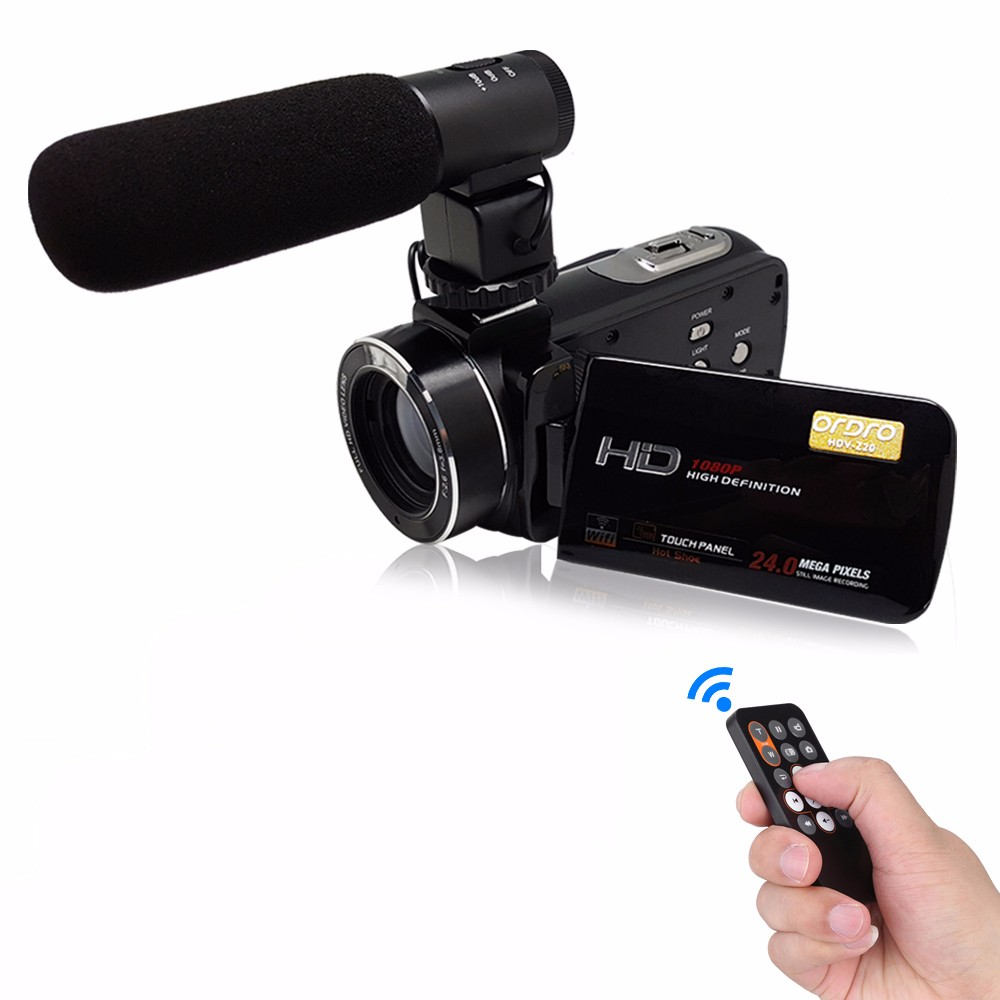 Super Hdv Z20 24mp Wifi 1080p Full Hd Digital Video Camera Camcorder With Remote External Wide