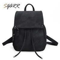 SGARR Famous Brand Pink Black 4 Color Backpacks Leather Women Softback Female Big Capacity School Bags