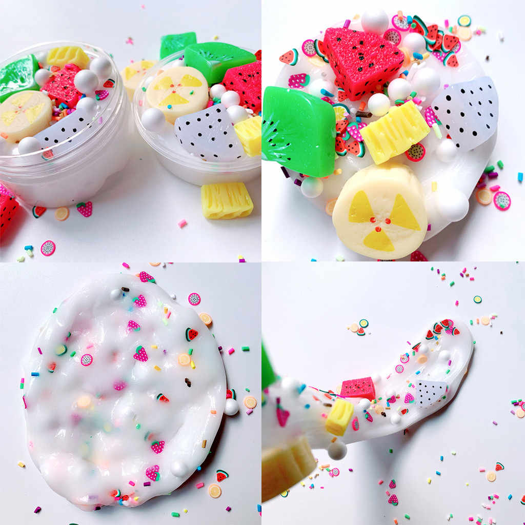 Summer fruit platter slime decompression toy mud beautiful fruit banana decompression children kids educational toys 2019 new
