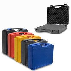 Caixa de ferramentas de plástico portátil caixa de instrumentos de segurança protetora caixa de armazenamento de equipamentos com esponja 340x273x83mm