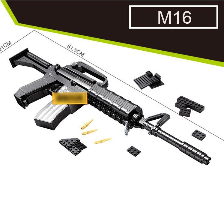 DIY nerfs Elite пистолет m16 пистолет пулемет карабин игрушечный пистолет Модель Building Block Набор Пластик игрушка в подарок для детей