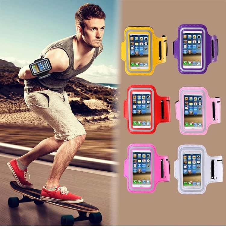 6'' Mobile Phone Universal Armband bags For iphone Xiaomi Huawei sports Arm band Case Running phone holder
