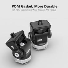 Monitör braketi standı 180 derece döndürülmüş monitör montaj tutucu soğuk ayakkabı ile Video ışıkları mikrofon DSLR VideoMaker Vlogger