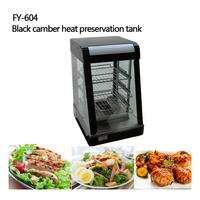 1pc FY 604 Warmer Machine Three layers thermal container heat preservation tank food warmer food display case