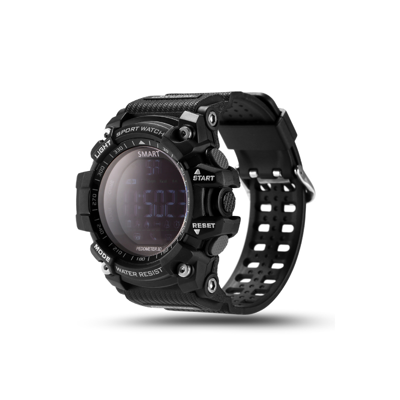 New Sport smart watch buzzer sound alarm sport monitor IP67 waterproof burned calory men watch remote