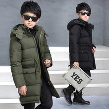 Big Boys Parka Jackets Baby Outerwear Childen Winter Jackets for Boys Warm Thick Cotton Down Jackets Coats 4 6 8 10 12 14 Years недорого
