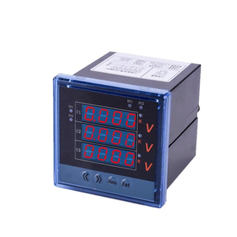 Professionnel numérique AC 220 V 0-500 V panneau compteur de tension 80*80 voltmètre Volt moniteur ménage tension Instrument de mesure